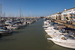 BRIGHTON, SUSSEX/UK - JANUARY 27 : View of Brighton Marina in Br Stock Image