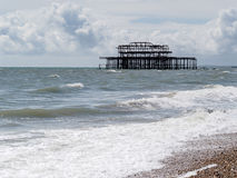 BRIGHTON, SUSSEX/UK - MAY 24 : View of the derelict pier in Brig Stock Images