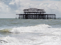 BRIGHTON, SUSSEX/UK - MAY 24 : View of the derelict pier in Brig Royalty Free Stock Image