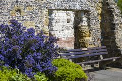 Ruin of Blackfriars in Arundel. BRIGHTON, UK - MAY 4TH 2018: The ruin of Blackfriars in the town of Arundel, West Sussex, on 4th May 2018.  It was the first Royalty Free Stock Photo