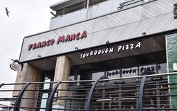 Franco Manca Restaurant. Brighton, United Kingdom - March 28 2018:   Frontage of Franco Manca Restaurant at Brighton Marina Stock Photos