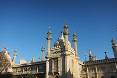 View of Brighton pavilion in a sunny day stock photos