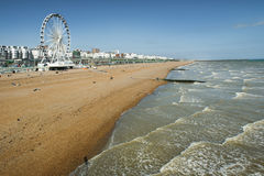 Brighton view of seaside from the pier Royalty Free Stock Photo