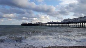Brighton. Wasser Spielehalle Wetter Pier Stock Photography