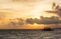 Brighton West Pier stock afbeeldingen