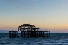 Brighton West Pier photographie stock