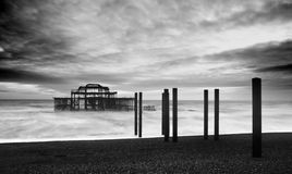 The Brighton West Pier royalty free stock photo