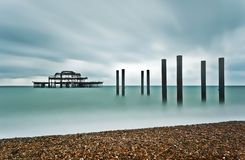 Brighton West Pier Stock Afbeelding