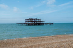 Brighton West Pier Lizenzfreie Stockbilder