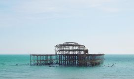 Brighton West Pier-Ansicht 1 stockbilder
