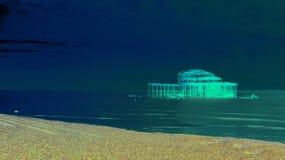 Brighton West Pier blu artistico immagine stock
