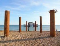 Brighton West Pier et piliers 1 photos stock