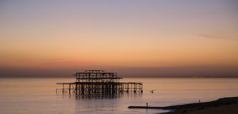 Brighton West Pier at Sunset Royalty Free Stock Photo