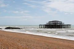 Brighton-Westpier und Konzertsaal Lizenzfreie Stockfotografie