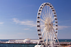 Brighton Wheel. The towering Brighton Wheel on the seafront at Brighton East Sussex England UK royalty free stock image