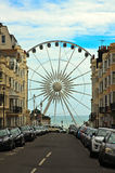 Brighton Wheel, England. View of The Brighton Ferris Wheel or Wheel of Excellence from the city towards the sea, England, United Kingdom Stock Images