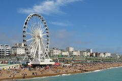 Brighton Wheel ferris wheel Brighton beach England Royalty Free Stock Images