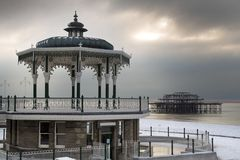 Brighton winter scene Stock Image