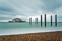 Brighton Zachodni molo Obraz Stock