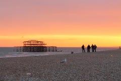 Brighton zmierzch Obrazy Stock