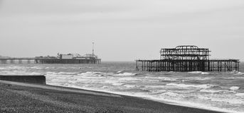 Brightons δύο αποβάθρες στοκ εικόνες