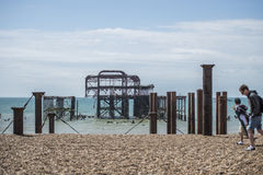 Brightons West Pier Stock Images