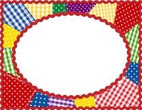 brights frame oval patchwork Стоковое Изображение RF