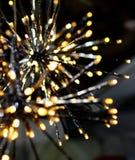 Brights LED accende il fiocco di neve delle stelle della ghirlanda Fotografie Stock