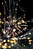 Brights LED allume le flocon de neige d'étoiles de guirlande Photos libres de droits