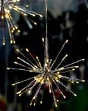 Brights LED allume le flocon de neige d'étoiles de guirlande Photo libre de droits