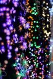 Brights van LEIDENE de slinger lichtenkerstmis Royalty-vrije Stock Foto