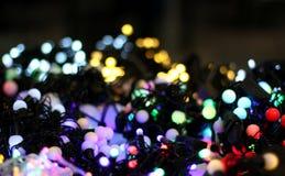 Brights van LEIDENE de slinger lichtenkerstmis Stock Afbeeldingen