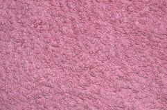 Brighy rosa tygtextur med fibrer överst av kanfasen Silkespappertextur Royaltyfria Bilder