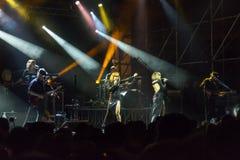 Brigitte live on stage Stock Photo