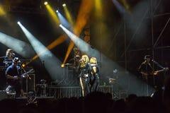 Brigitte live on stage Stock Image