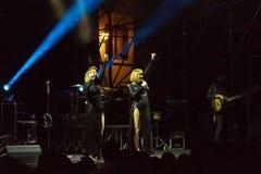Brigitte żywy na scenie Zdjęcia Royalty Free