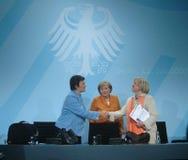 Brigitte Zypries, Angela Merkel, Maria Boehmer Royalty Free Stock Image