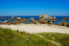 Brignogan bay, bretagne, france Royalty Free Stock Images
