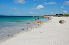 Brignogan strand, bretagne, france Arkivfoto