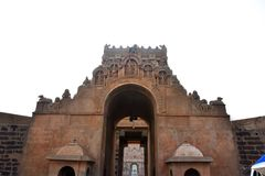 Brihadeeswara寺庙,坦贾武尔,泰米尔・那杜 免版税库存图片