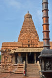 Brihadeeswara寺庙,坦贾武尔 库存图片