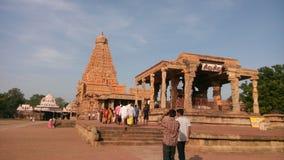 Brihadeeswara tempel Royaltyfria Bilder