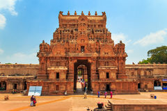 Brihadeeswara-Tempel in Thanjavur, Tamil Nadu, Indien lizenzfreies stockfoto