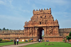 Brihadeeswara tempelingång II, Thanjavur arkivfoton