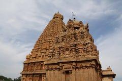 Brihadeeswarar Big Temple. Brihadeeswarar Temple also called Big Temple and Peruvudaiyaar Kovil in Thanjavur, Tamil Nadu India on a clear day with clouds and a stock photos