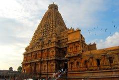 brihadeeswarar tempel Arkivfoton