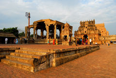 brihadeeswarar tempel Arkivfoto
