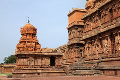 Brihadeeswarar Temple in Thanjavur royalty free stock photography