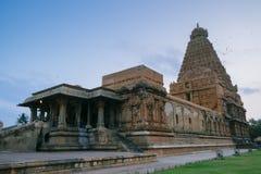Brihadishvara寺庙,坦贾武尔Tanjore,联合国科教文组织世界Heritag 库存照片