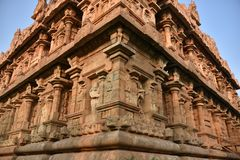 Brihadisvara寺庙,Gangaikonda乔拉普拉姆,泰米尔・那杜 免版税库存图片